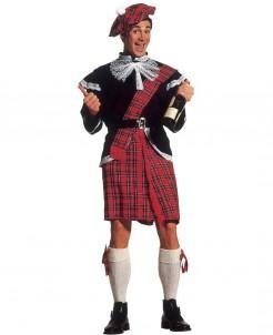 Schotten-Kostüm für Herren rot-schwarz