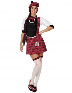 Schotten-Kostüm Schottland rot-schwarz