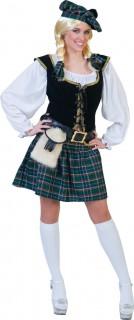 Schottin-Kostüm Schottland blau-grün