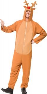 Erwachsenenkostüm Rentier orange