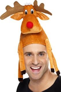 Rentier Mütze Weihnachten braun