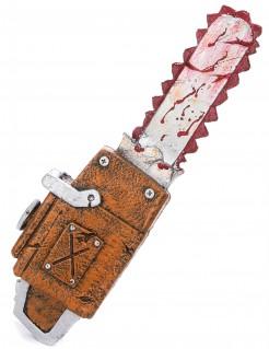 Blutige Horror Kettensäge Halloween Waffe braun-rot 53cm