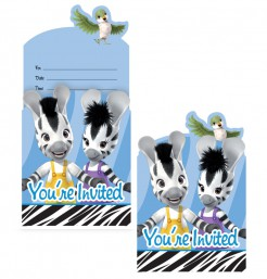 Einladungskarten und Briefumschläge Zebra Zou Disney-Lizenzartikel 16-teilig bunt
