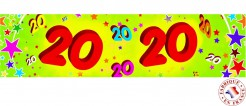 Papier Geburtstagsbanner -20 Jahre bunt 2,44 x 16 cm