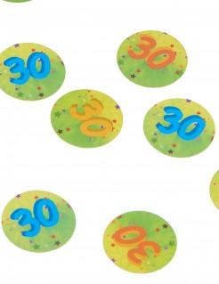 Tisch-Konfetti Zahl 30 150 stück bunt 10g