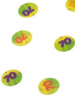 Tisch-Konfetti Zahl 70 150 stück bunt 10g