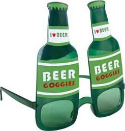 Bierflaschen-Brille kostümaccessoire grün