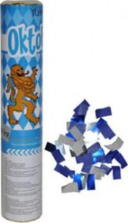 Oktoberfest Konfetti Kanone blau-weiss