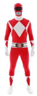 Power Rangers Morphsuit Lizenzware rot-weiss
