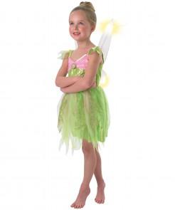 Tinkerbell Kostüm Mädchen grün-rosa