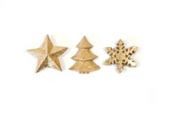 Weihnachten Tischdeko-Set 12-teilig gold 3 cm