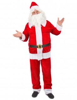 Weihnachtsmann Kostüm Deluxe Weihnachten rot-weiss