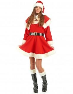 Miss Santa Deluxe Damenkostüm Weihnachten rot-weiss