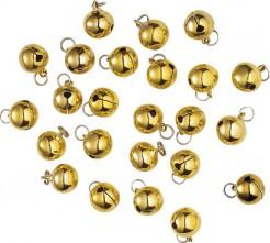 Deko Glöckchen-Weihnachten 24 stück gold