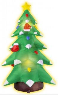 Aufblasbarer Weihnachtsbaum Weihnachts-Deko grün-weiss-rot 183cm