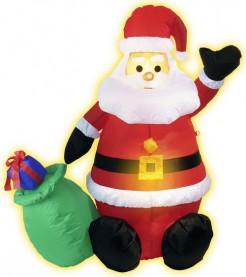 Aufblasbare Weihnachtsmann-Dekoration bunt 122 cm