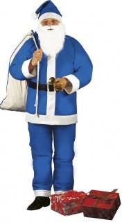 Weihnachtsmann-Herrenkostüm Nikolaus blau