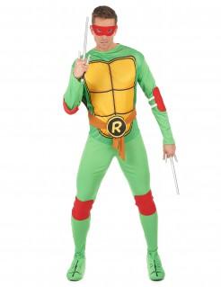 Teenage Mutant Ninja Turtles Raphael Kostüm Lizenzartikel grün-gelb