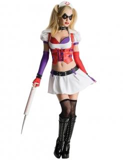 Harley Quinn Krankenschwester Damenkostüm Lizenzartikel Batman Arkham City bunt