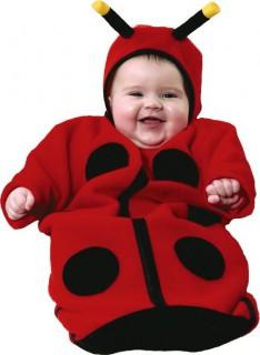Baby Marienkäfer Kostüm Schlafsack rot-schwarz