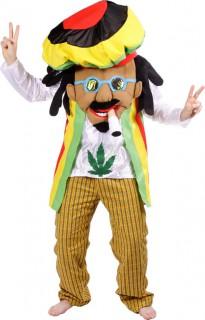 Jamaikanischer Rastaman - Kostüm für Erwachsene in Rot Gelb Grün und Schwarz