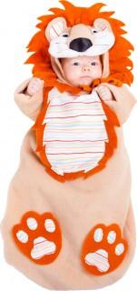 Baby Löwen Kostüm Schlafsack braun-orange-weiss