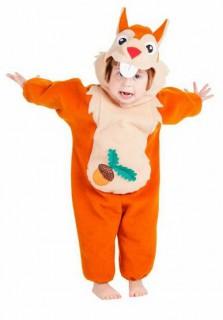 Eichhörnchenkostüm für Kinder orange-beige