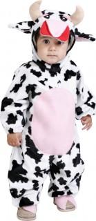 Kuh-Kostüm Baby schwarz-weiß