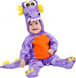 Drachenkostüm für Babys in Lila