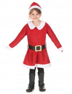 Miss Santa-Mädchenkostüm Weihnachten rot-weiß-schwarz