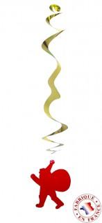 Hängedeko Girlande-Weihnachtsmann 6 stück gold-rot