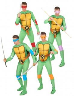 Ninja Turtles™-Gruppenkostüm grün-bunt