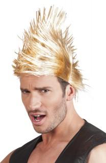 Herren Punkfrisur Perücke blond