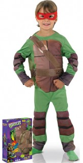 Gepolstertes Ninja Turtle-Kinderkostüm mit Geschenkbox Comic grün