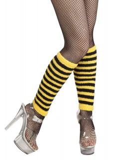 Beinstulpen Biene schwarz gelb gestreift 34 cm