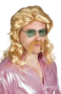 Männer-Perücke mit Bart Perücke blond