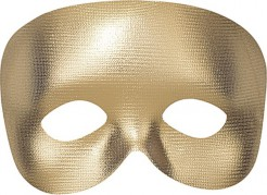 Venezianische Halbmaske Karneval gold