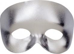 Halbmaske für Erwachsene silber