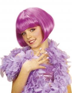 Mädchen Perücke Kurzhaarbob 20er pink