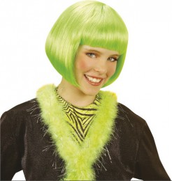 Mädchenperücke Kurzhaarbob 80er-Perücke grün