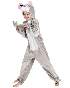 Kinder Maus Kostüm-Overall grau
