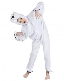 Eisbär-Kostüm Kinder weiß