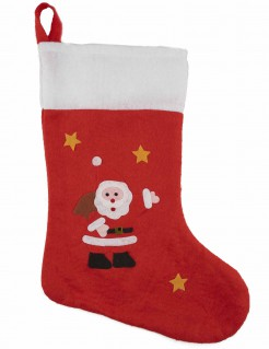 Advents-Geschenke Socke Weihnachten rot-weiss