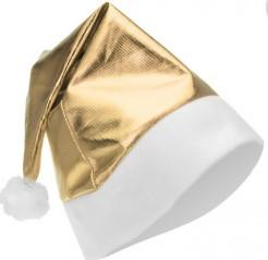 Weihnachtsmütze glänzendgold-weiss