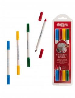 Lebensmittel-Stifte 4 Stück bunt 8 g