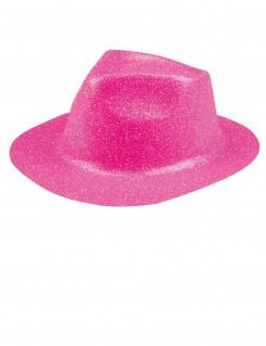 Glitzer Party Hut für Erwachsene rosa
