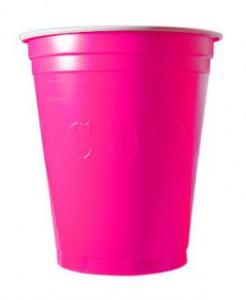 Riesenbecher American Style 20 stück pink 530 ml