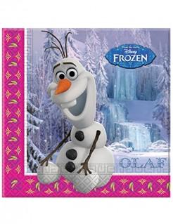 Servietten Olaf aus Die Eiskönigin Disney-lizenzartikel 20 stück bunt