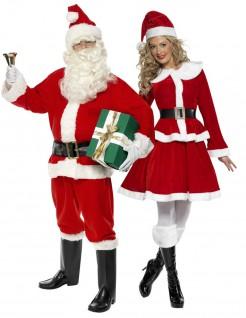 Weihnachts-Paarkostüm für Erwachsene Weihnachten rot-weiss