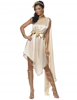 Antike Göttin Damenkostüm beige-gold